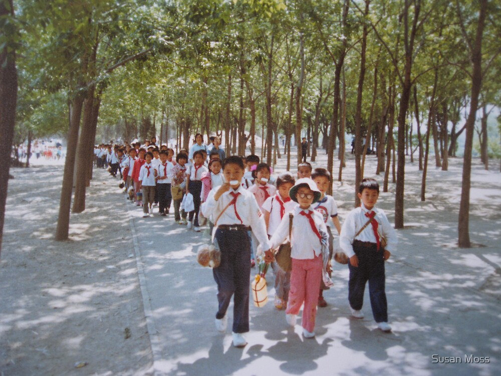 School children  Tianjin May 1981 by Susan Moss