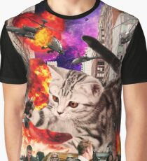 Cat Attack New York City Graphic T-Shirt