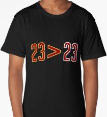 LeBron Greater Than Jordan (Black) Long T-Shirt