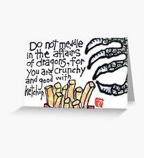 Dragon Snacks Greeting Card