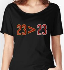 LeBron Greater Than Jordan (Black) Women's Relaxed Fit T-Shirt