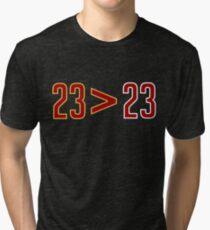 LeBron Greater Than Jordan (Black) Tri-blend T-Shirt