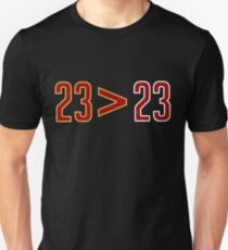 LeBron Greater Than Jordan (Black) Unisex T-Shirt