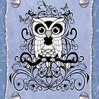 Fantasy Black an White Owl by LoneAngel