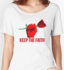 Jeremy Corbyn - Keep The Faith // LABOUR PARTY ROSE Women's Relaxed Fit T-Shirt