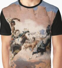 """William Leigh Western Art """"The Leader's Downfall"""" Graphic T-Shirt"""