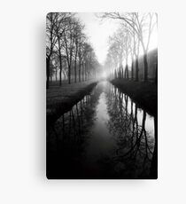 Film photography: Black and white morning Canvas Print