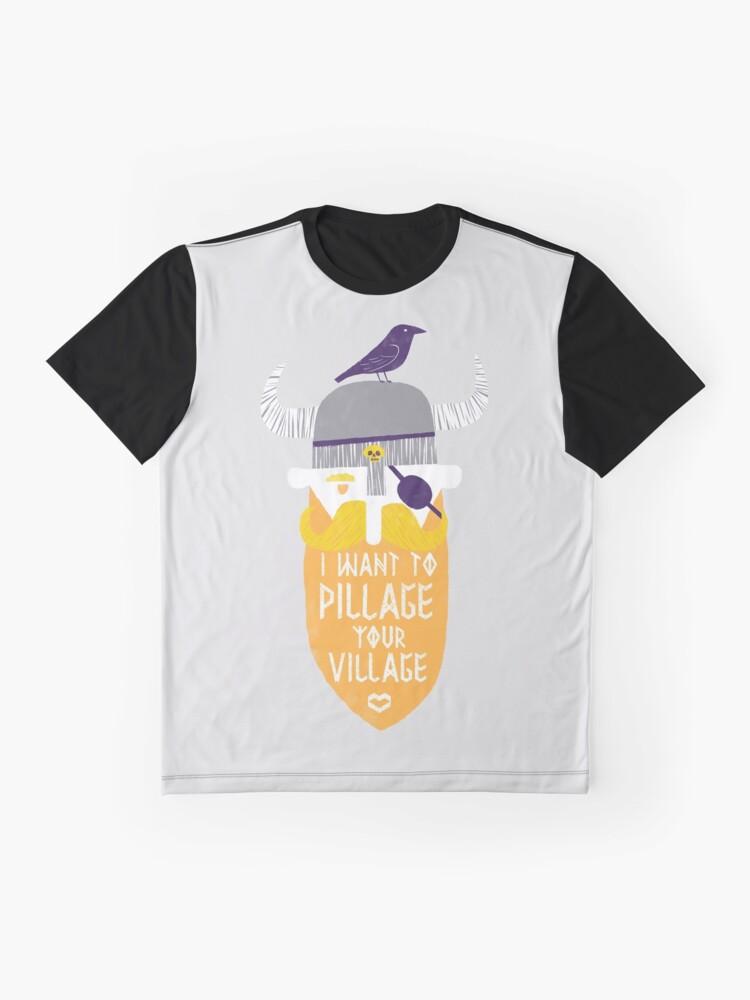 Alternative Ansicht von Plündern Grafik T-Shirt