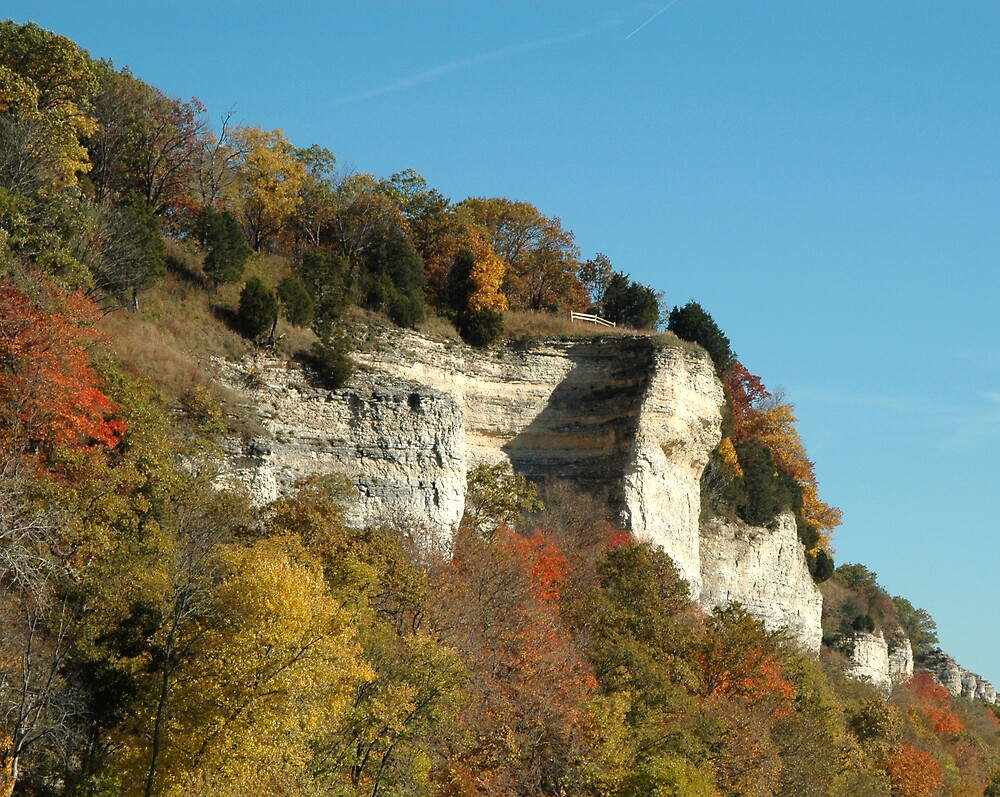 Bluffs in Fall by Jim Caldwell