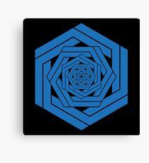 Blue Hexgemony Canvas Print