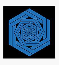 Blue Hexgemony Photographic Print
