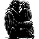 Primate love by TiagoChagas