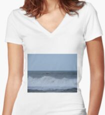 Brown Pelican Women's Fitted V-Neck T-Shirt