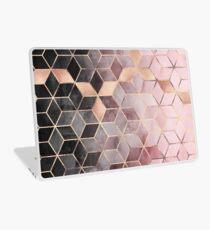 Cubes dégradés roses et gris Skin de laptop