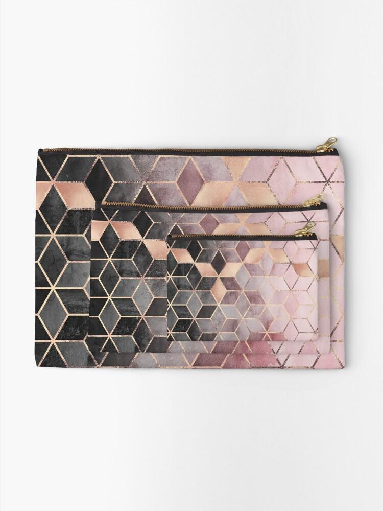 Vista alternativa de Bolsos de mano Cubos de color rosa y gris degradado