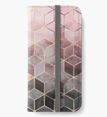 Pink And Grey Gradient Cubes iPhone Wallet/Case/Skin