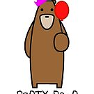 Party bear by LloydandtheBear