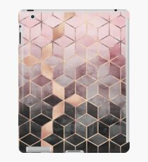 Pink And Grey Gradient Cubes iPad Case/Skin