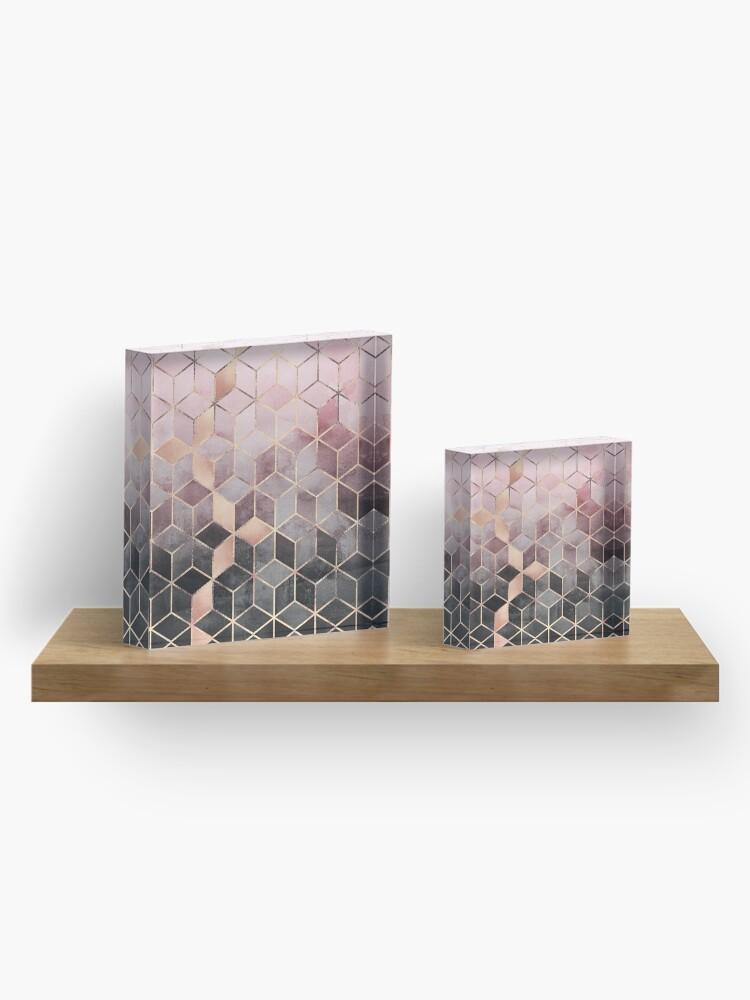 Alternative Ansicht von Rosa und graue Farbverlaufswürfel Acrylblock