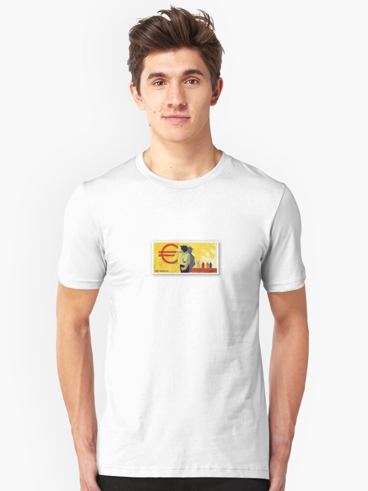 Painting the Euro Unisex T-Shirt Front