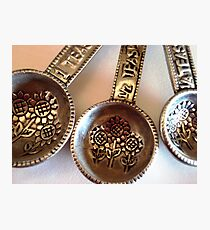 Measuring Spoons Photographic Print