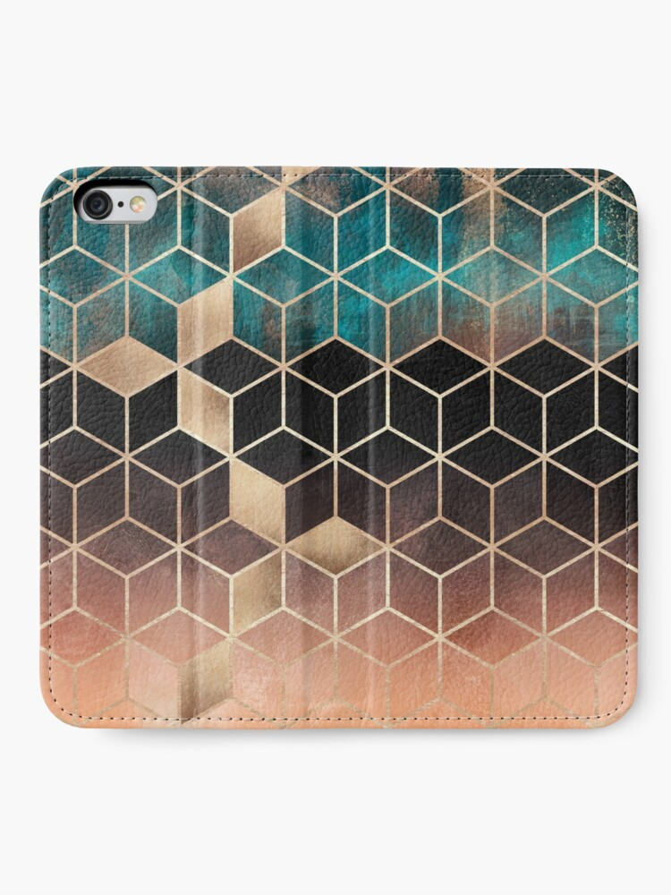 Alternate view of Ombre Dream Cubes iPhone Wallet