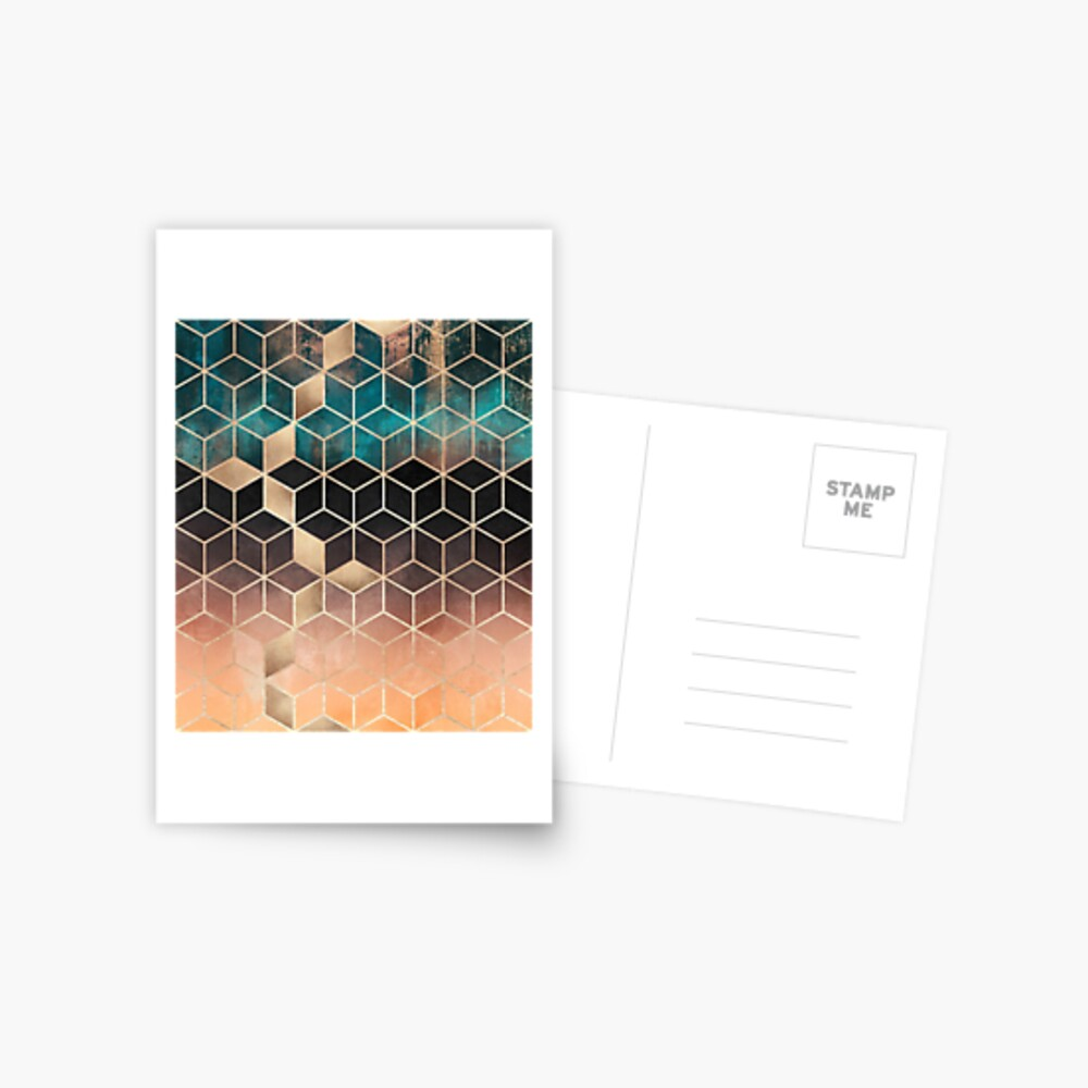 Ombre Dream Cubes Postcard