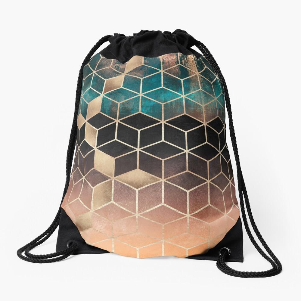 Ombre Dream Cubes Drawstring Bag
