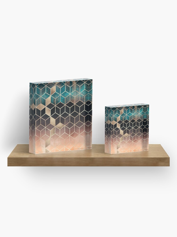 Alternate view of Ombre Dream Cubes Acrylic Block