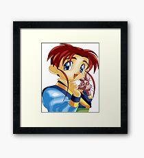Boy cartoon Framed Print