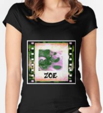 Zoe - personalize your gift Women's Fitted Scoop T-Shirt