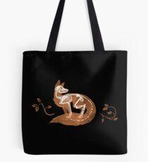 Fox Bones - Black Tote Bag