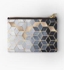 Soft Blue Gradient Cubes Studio Pouch