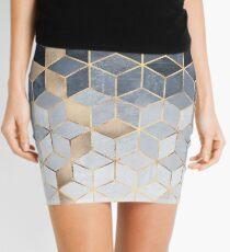 Minifalda Cubos de gradiente azul suave