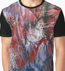 Red White Blue Burst Graphic T-Shirt