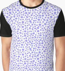 Small Random Dots Salmon blue Graphic T-Shirt