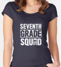 Seventh Grade Squad T-Shirt (7th Grade School Shirt)  Women's Fitted Scoop T-Shirt