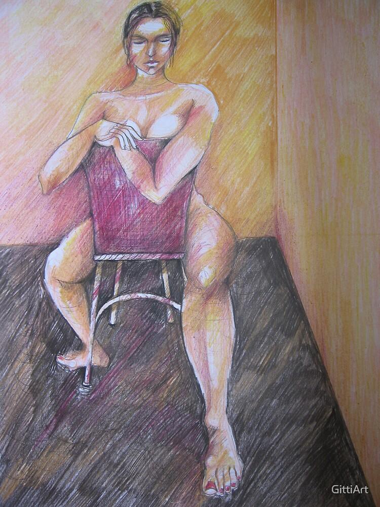 POSING ON CHAIR by GittiArt