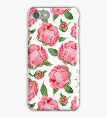 Watercolor Peonies iPhone Case/Skin
