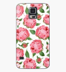 Watercolor Peonies Case/Skin for Samsung Galaxy