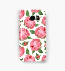 Watercolor Peonies Samsung Galaxy Case/Skin