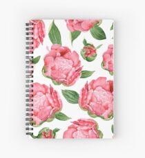 Watercolor Peonies Spiral Notebook