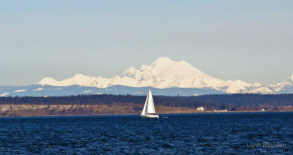 Sailing Past Mount Baker by Lynn Bawden