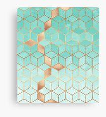 Soft Gradient Aquamarine Canvas Print