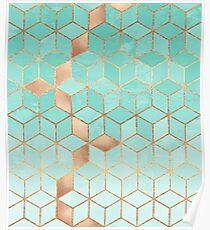 Soft Gradient Aquamarin Poster