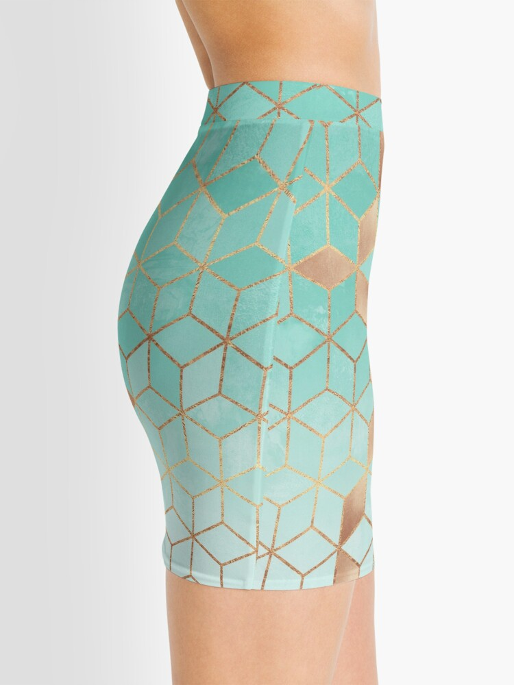 Alternate view of Soft Gradient Aquamarine Mini Skirt