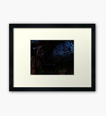The Night Sky Through an Abandoned Barn Framed Print