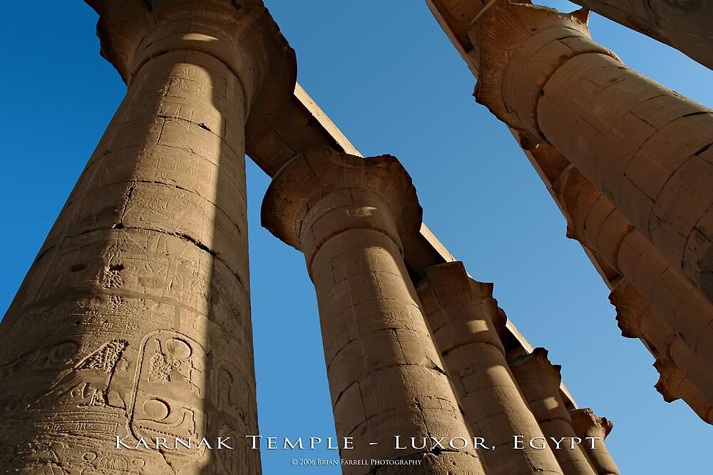 Karnak Temple - Luxor, Egypt (Photo Finish) by Brian Farrell