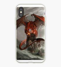 Vinilo o funda para iPhone Red Dragon Fantasy