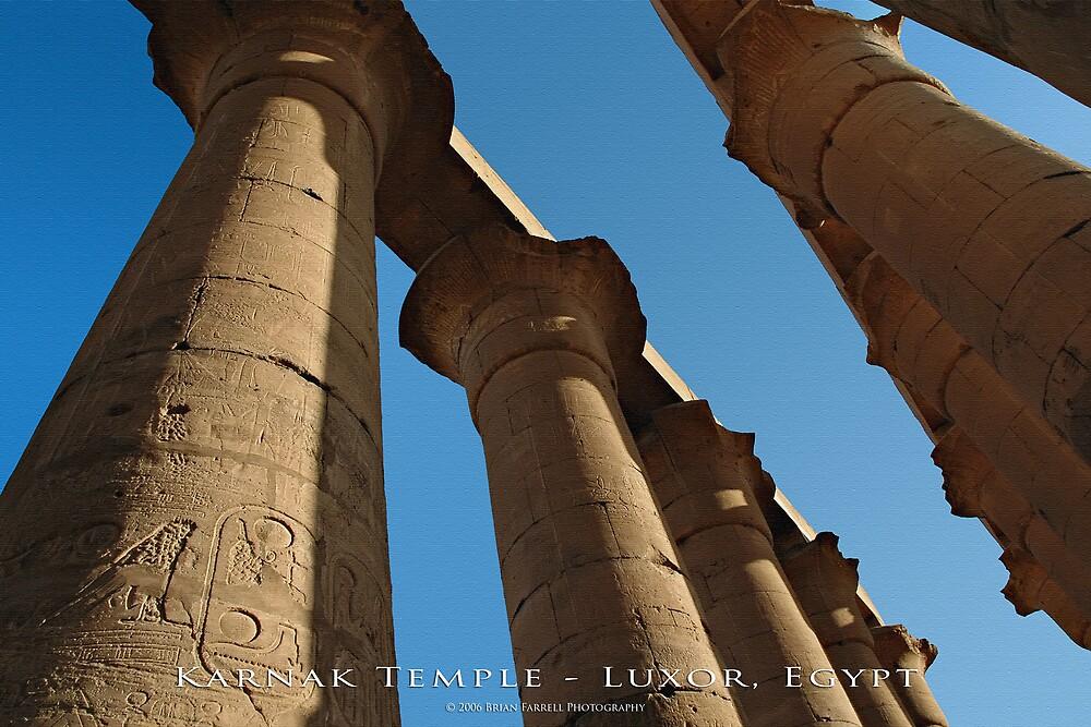 Karnak Temple - Luxor, Egypt (Textured Canvas Finish) by Brian Farrell